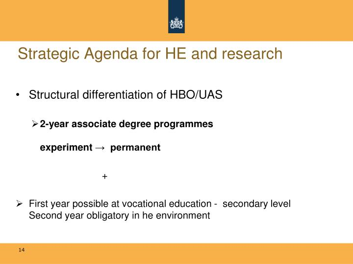 Strategic Agenda for HE and research