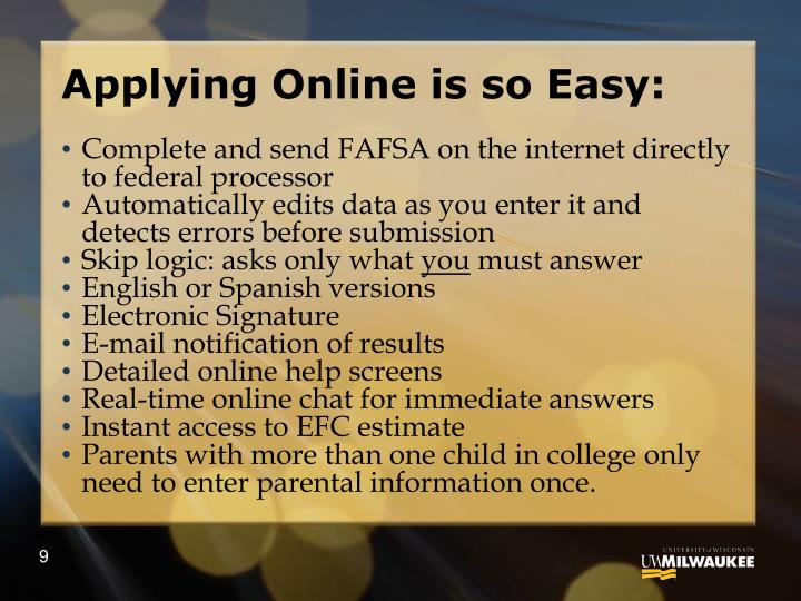 Applying Online is so Easy: