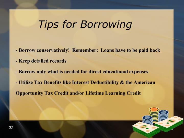 Tips for Borrowing