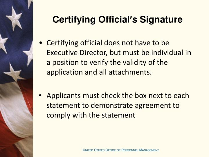Certifying Official