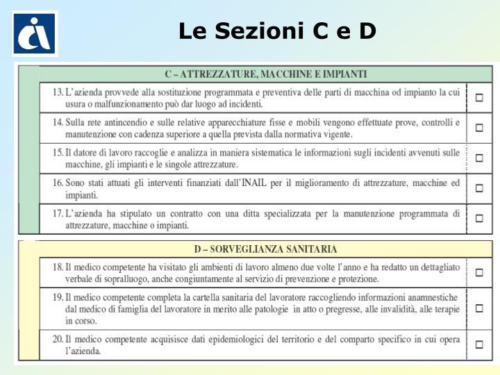 Le Sezioni C e D