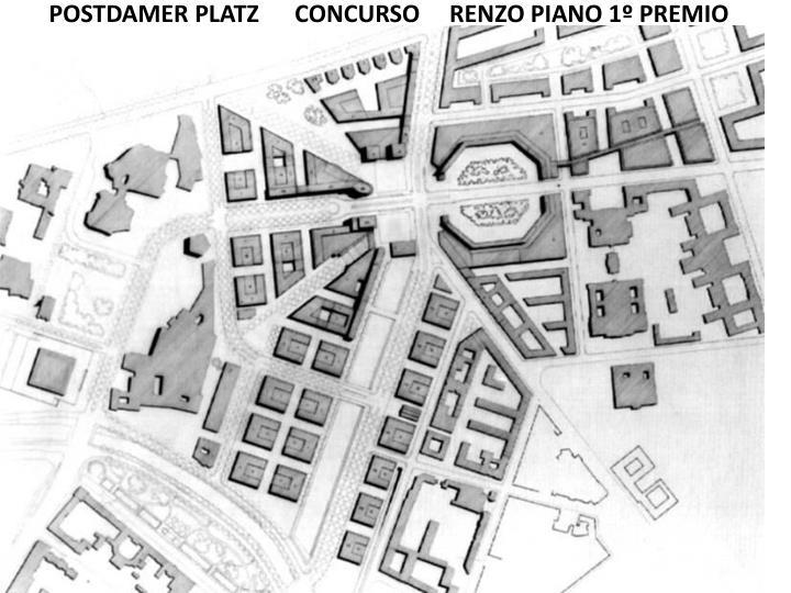 POSTDAMER PLATZ      CONCURSO     RENZO PIANO 1º PREMIO