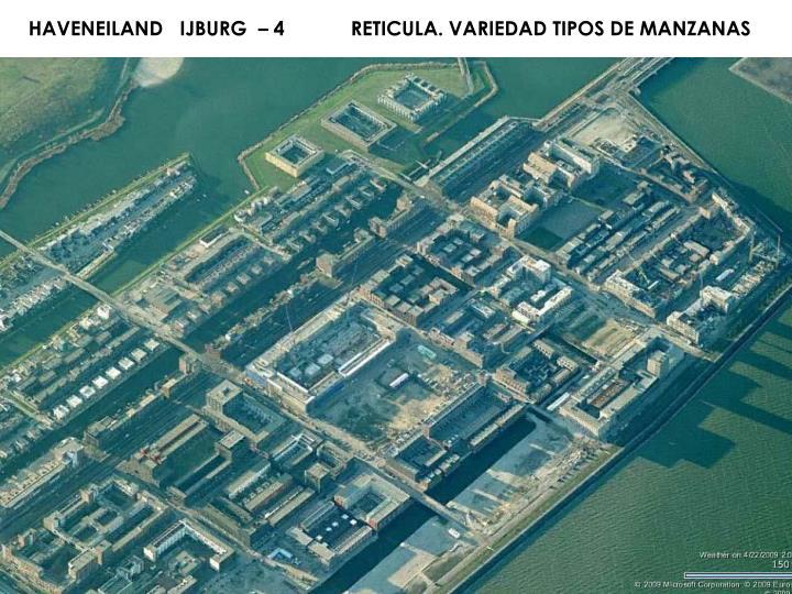 HAVENEILAND   IJBURG  – 4            RETICULA. VARIEDAD TIPOS DE MANZANAS