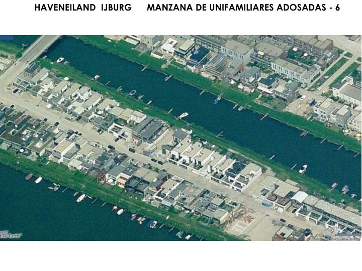 HAVENEILAND  IJBURG      MANZANA DE UNIFAMILIARES ADOSADAS - 6