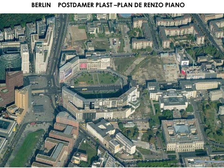 BERLIN    POSTDAMER PLAST –PLAN DE RENZO PIANO
