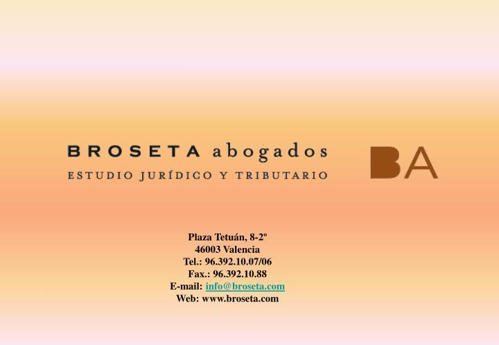 Plaza Tetuán, 8-2º