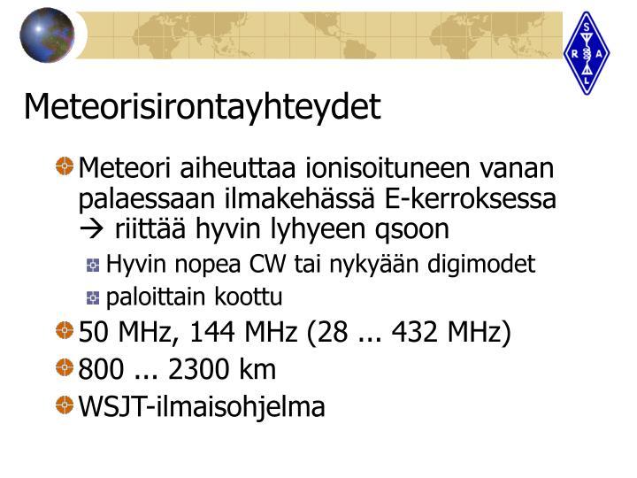 Meteorisirontayhteydet