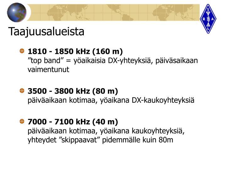1810 - 1850 kHz (160 m)