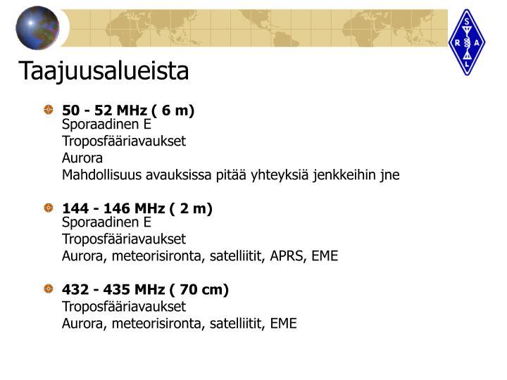 50 - 52 MHz ( 6 m)