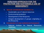 peruvian approach for the protection and sustainable use of biodiversity1