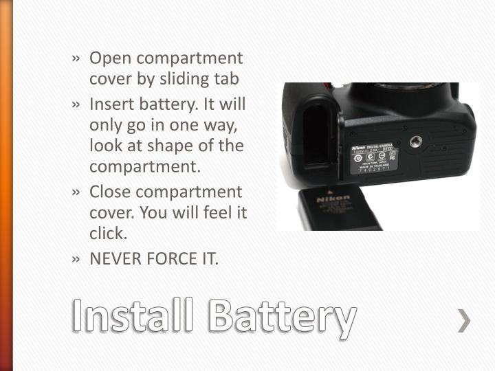 Open compartment cover by sliding tab