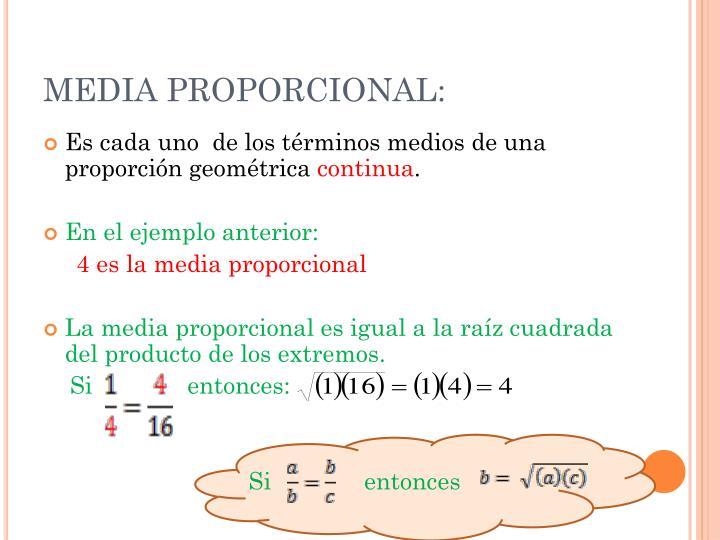 MEDIA PROPORCIONAL: