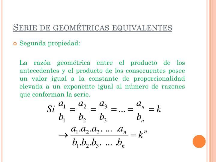 Serie de geométricas equivalentes