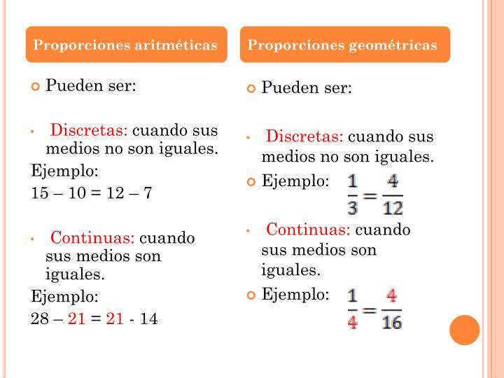 Proporciones aritméticas