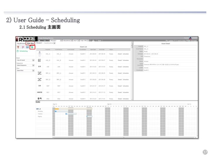 2) User Guide - Scheduling