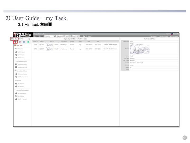 3) User Guide – my Task