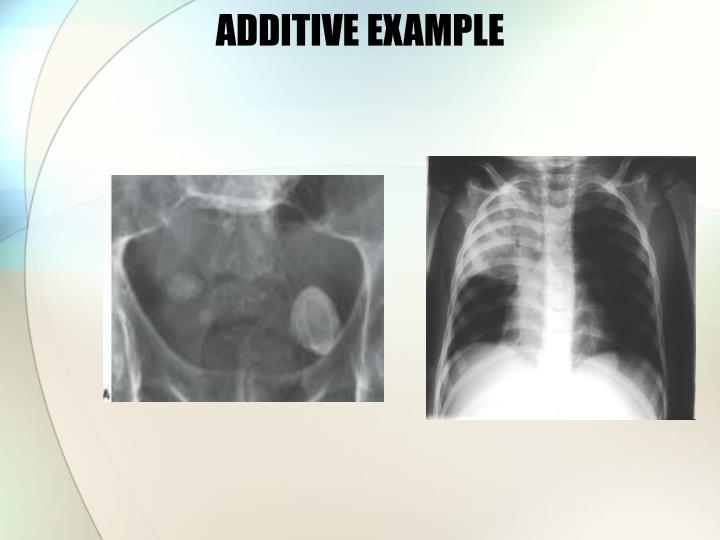 ADDITIVE EXAMPLE