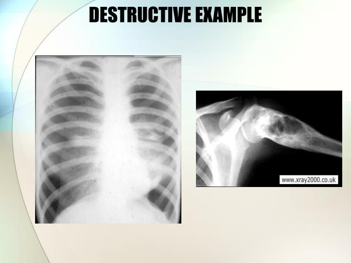 DESTRUCTIVE EXAMPLE