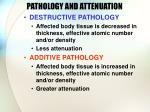 pathology and attenuation