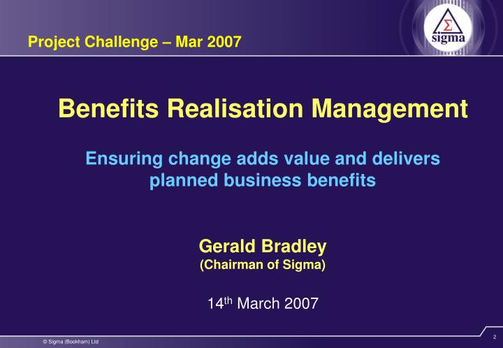 Project Challenge – Mar 2007