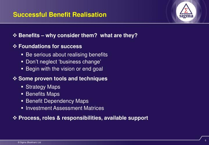 Benefits – why consider them?  what are they?