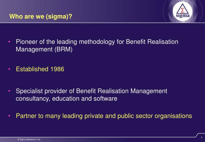 Who are we (sigma)?