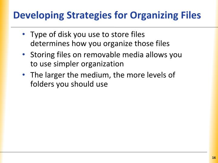 Developing Strategies for Organizing