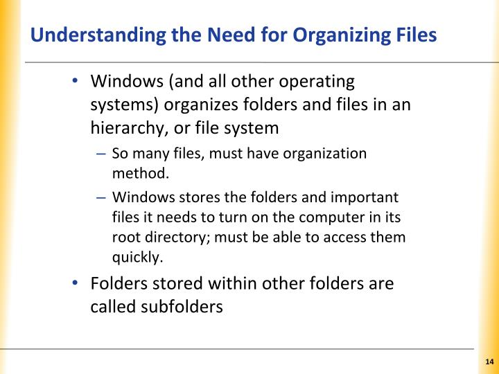 Understanding the Need for Organizing Files