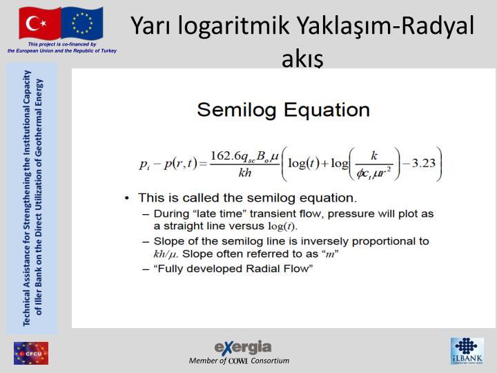 Yarı logaritmik Yaklaşım-Radyal akış