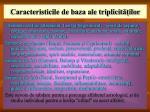 caracteristicile de baza ale triplicit ilor