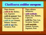 clasificarea zodiilor europene