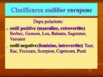 clasificarea zodiilor europene1