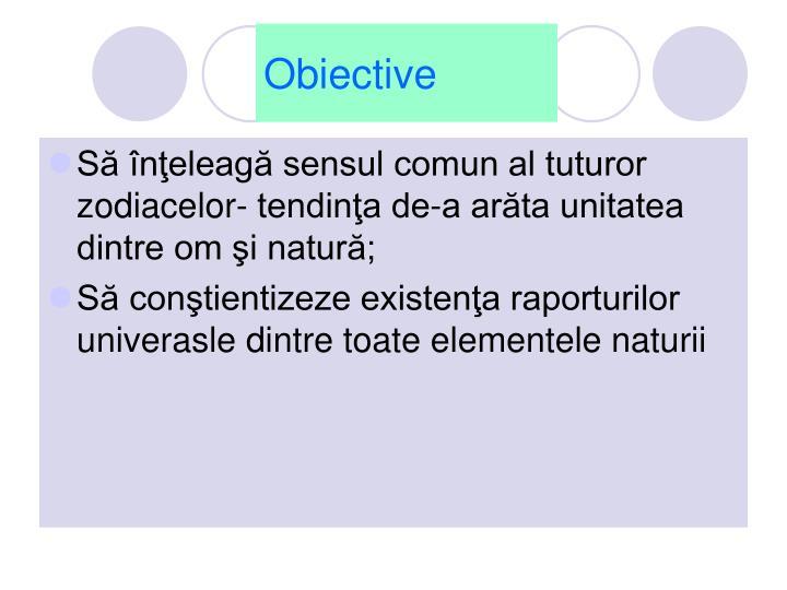 Obiective