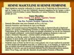 semne masculine si semne feminine