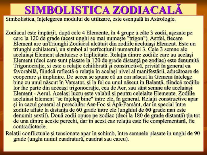 SIMBOLISTICA ZODIACALĂ