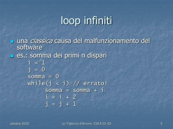 loop infiniti