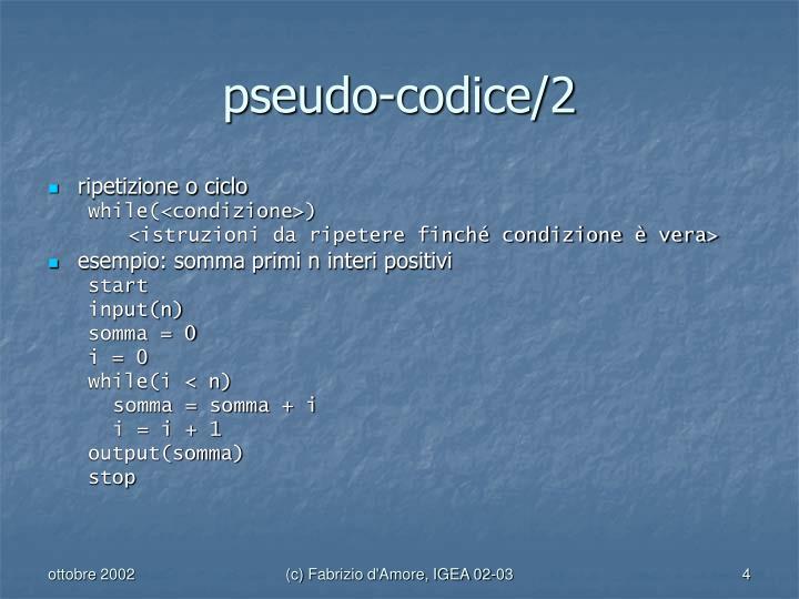 pseudo-codice/2
