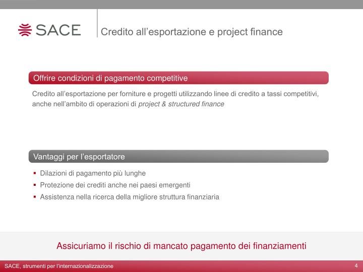 Credito all'esportazione e project finance