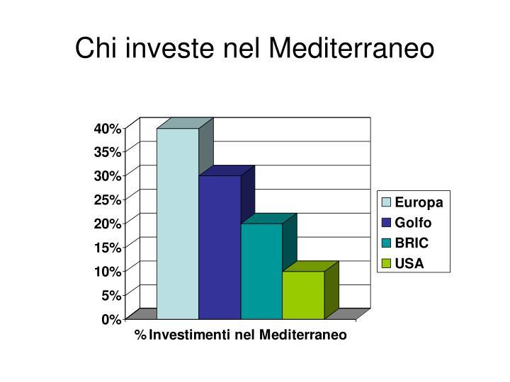 Chi investe nel Mediterraneo