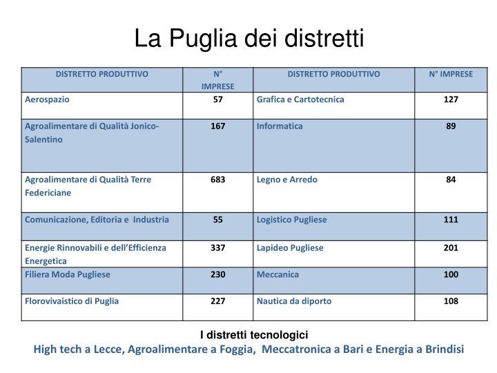 La Puglia dei distretti