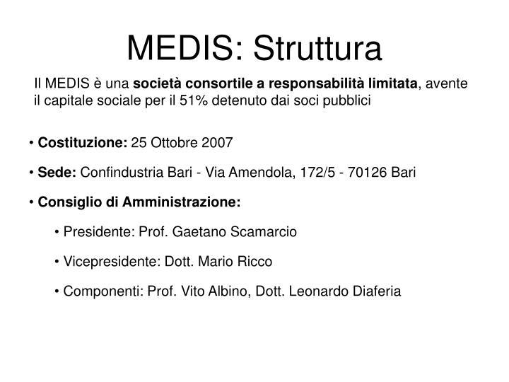MEDIS: Struttura