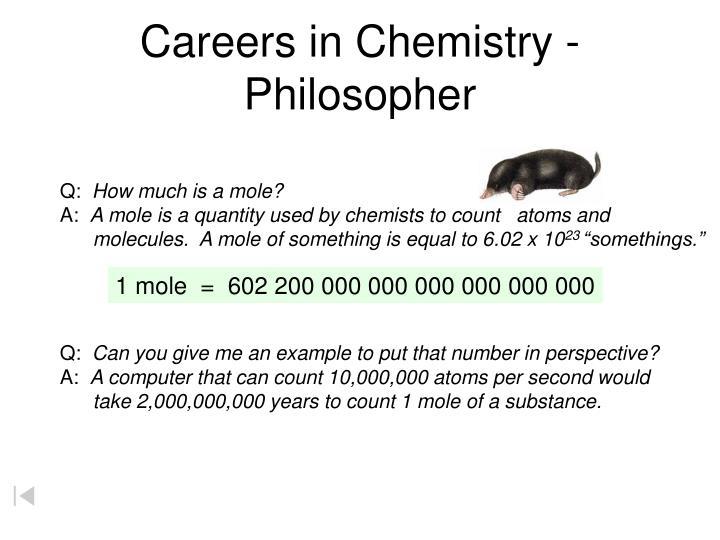 Careers in Chemistry - Philosopher