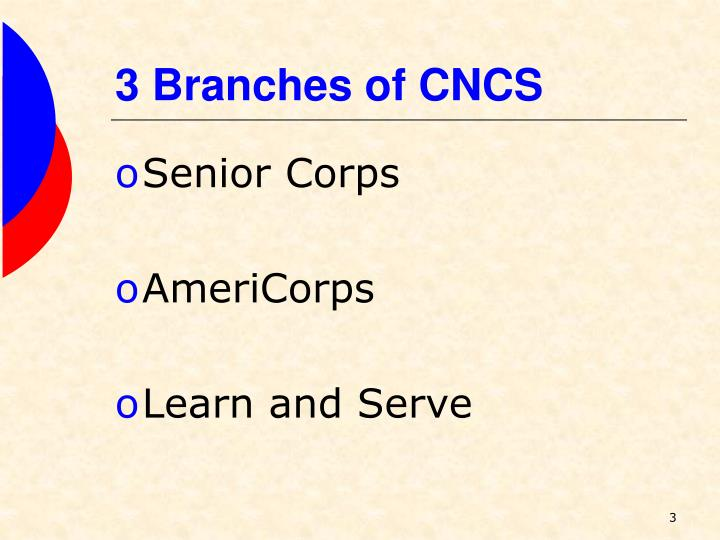 3 branches of cncs