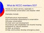 what do nccc members do
