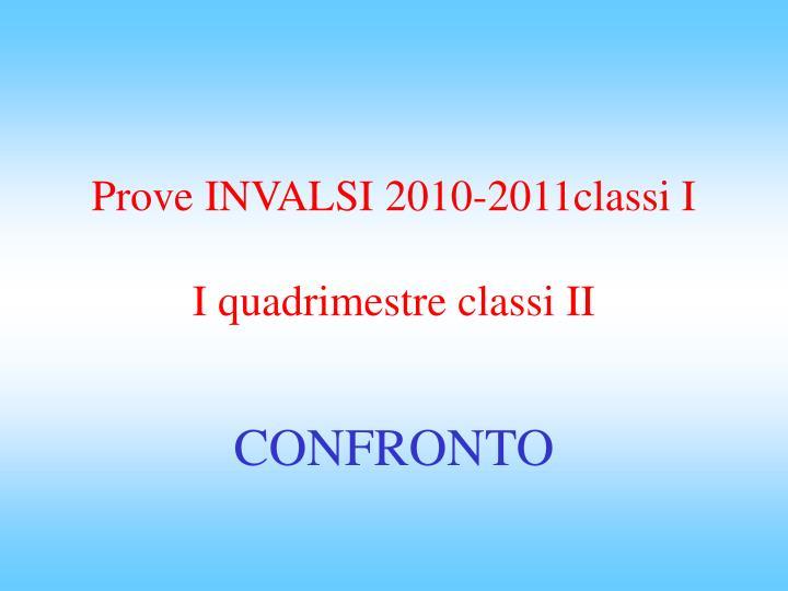 Prove INVALSI 2010-2011classi I