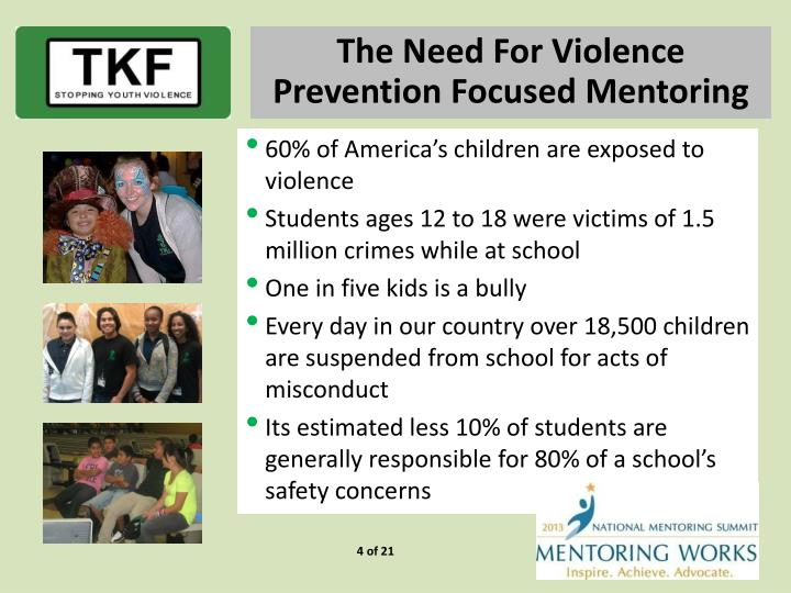 The Need For Violence Prevention Focused Mentoring