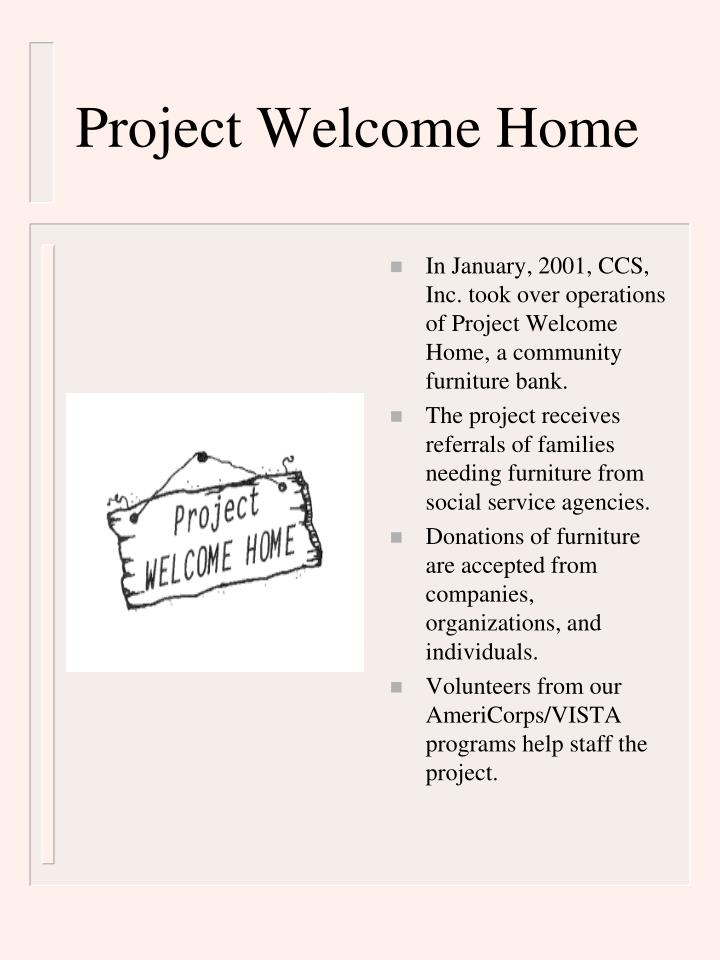 Project Welcome Home