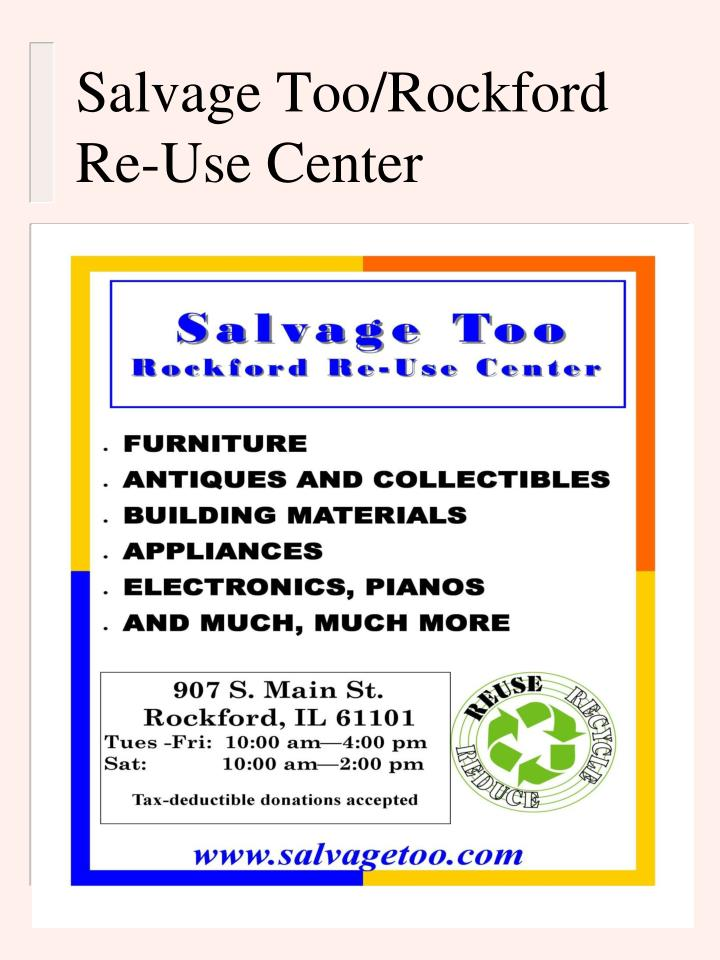 Salvage Too/Rockford Re-Use Center