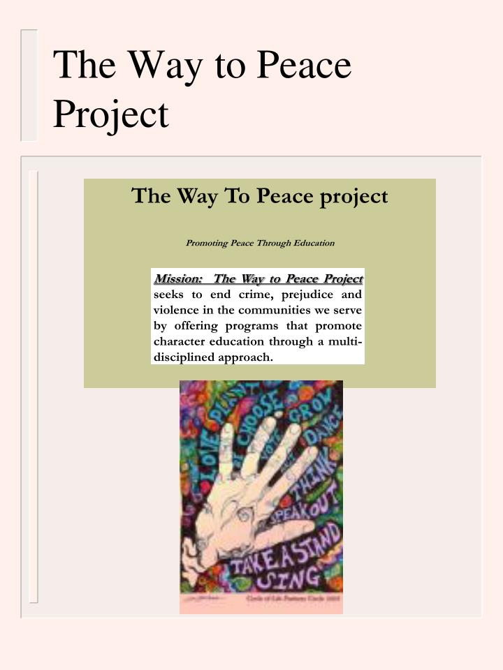 The Way to Peace Project