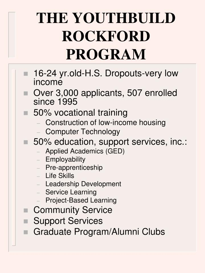 THE YOUTHBUILD ROCKFORD PROGRAM